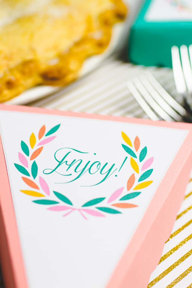 Free Pie Box Printable Cricut Thanks Giving Party Holiday Favours