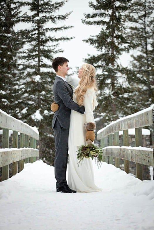 A Christmas Bride.Winter Wedding Inspiration Christmas Bride Groom Bespoke