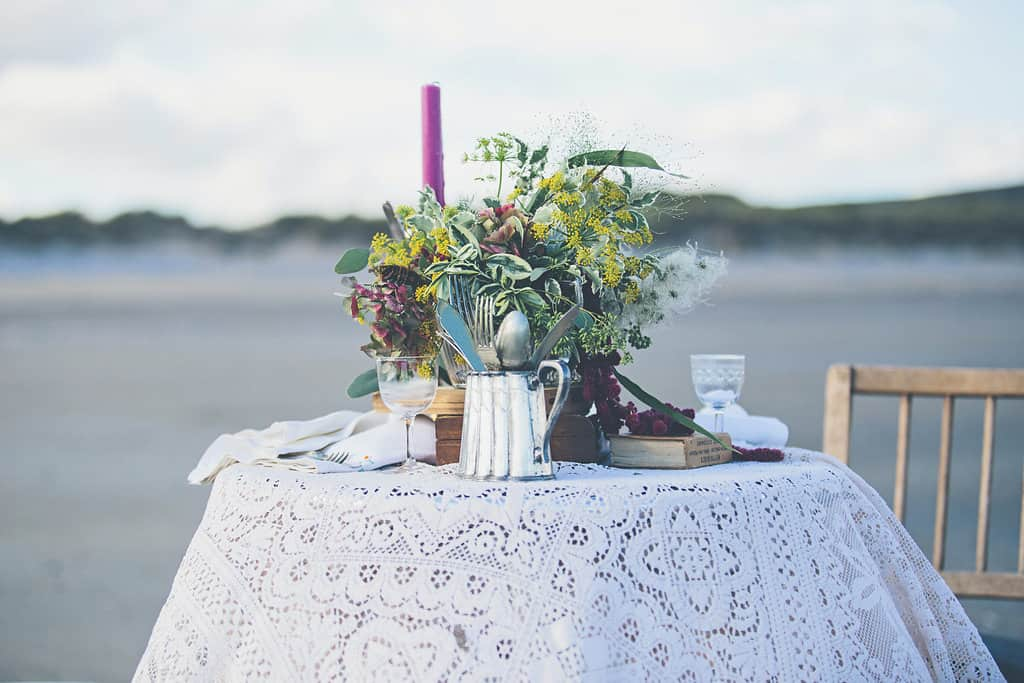 Bohemian Sequin Wedding Inspiration beach festival style 22