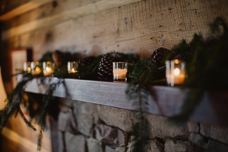 Christmas Bridal Brunch Log Cabin Hot Chocolate Festive Shoot 2-3