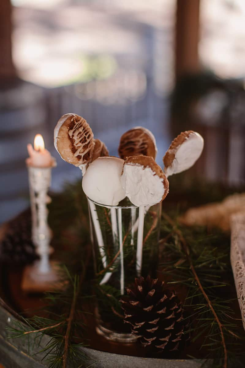 Christmas Bridal Brunch Log Cabin Hot Chocolate Festive Shoot-5