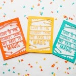 Cute & Colourful DIY Die Cut Favours