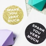 DIY 'Spank You Very Much' Wedding Napkins