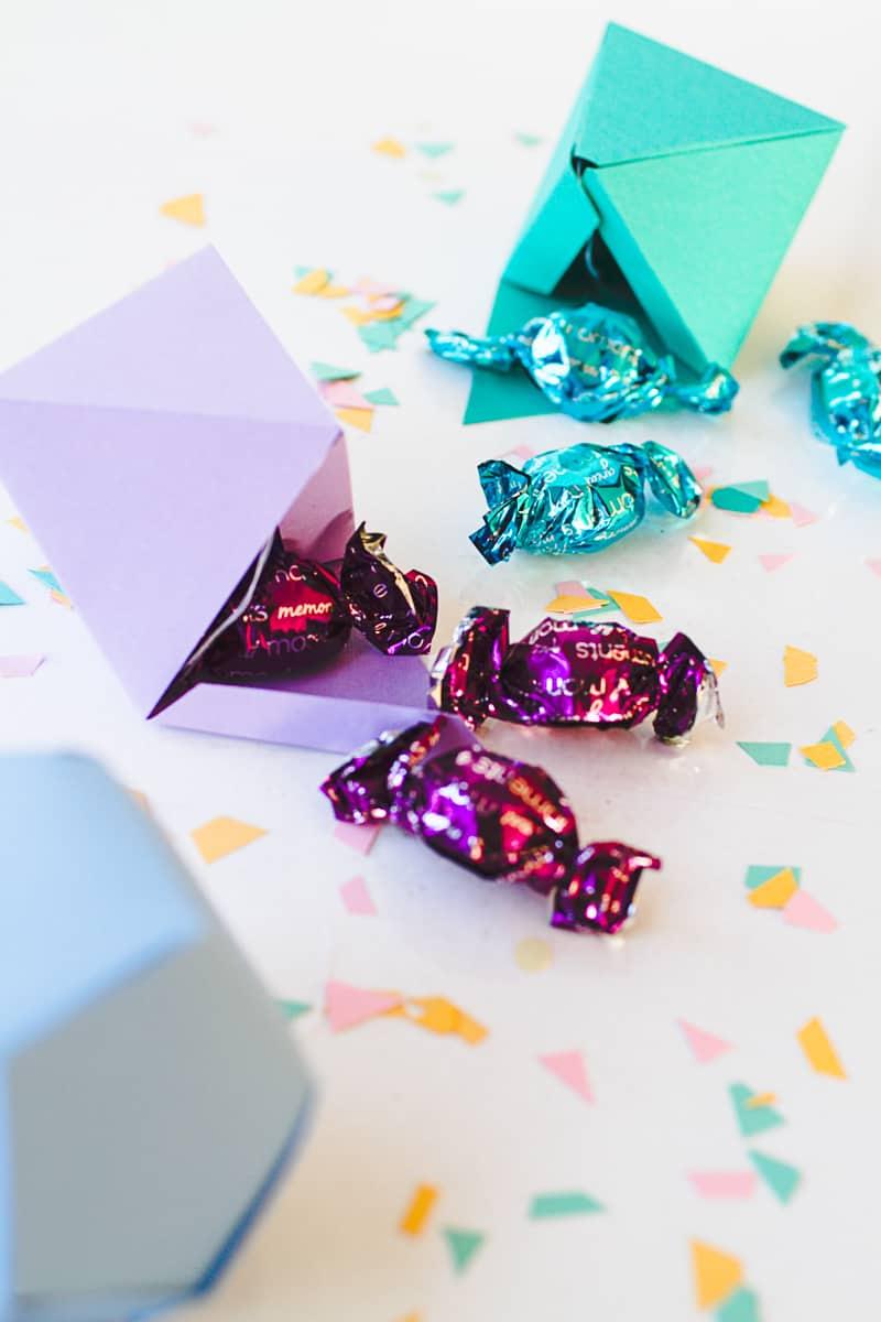 DIY Geometric Christmas Tree Thorntons Chocolate Decorations-2