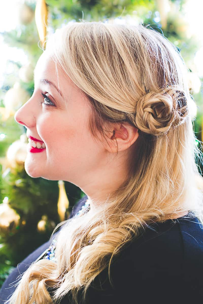 Festive Christmas Hair Braid Tutorial 2