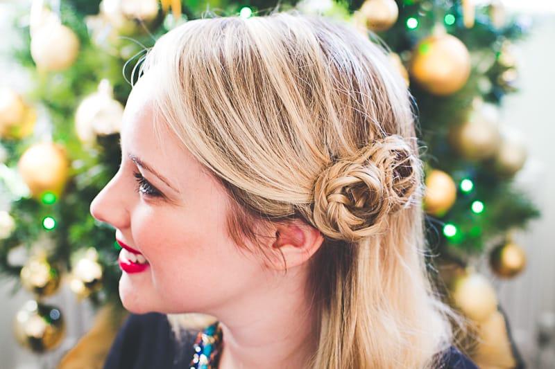 Festive Christmas Hair Braid Tutorial_