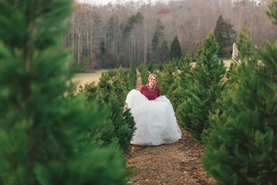 Festive Wedding Inspiration on a Christmas Tree Farm 19