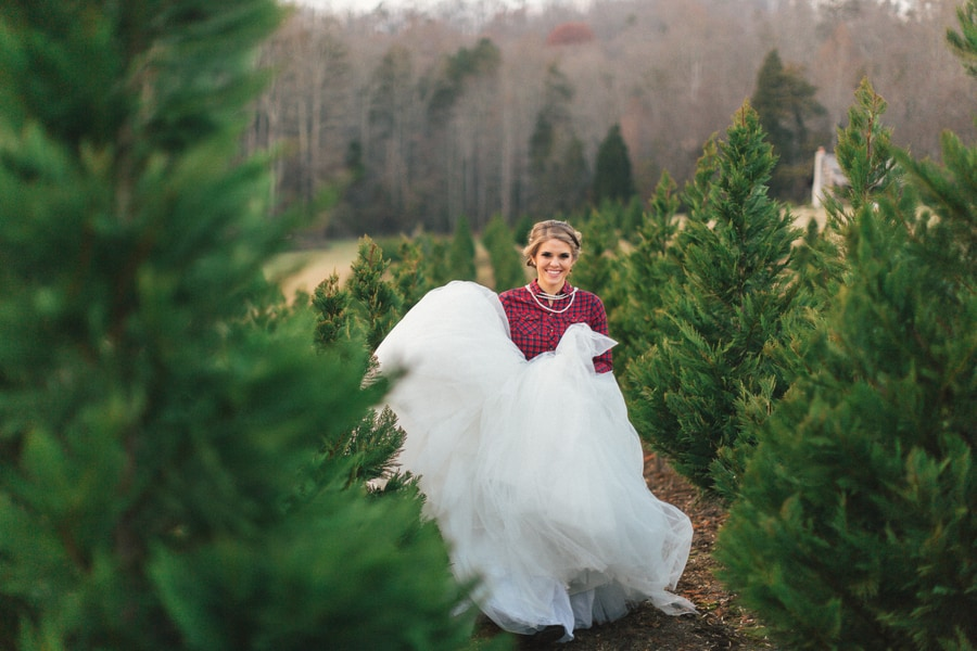 Festive Wedding Inspiration on a Christmas Tree Farm 20