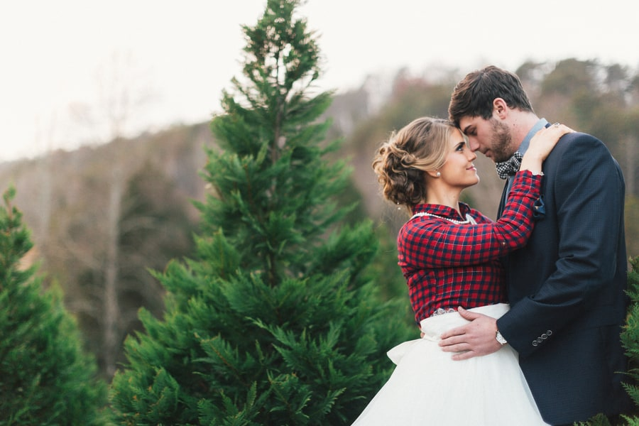 Festive Wedding Inspiration on a Christmas Tree Farm 25