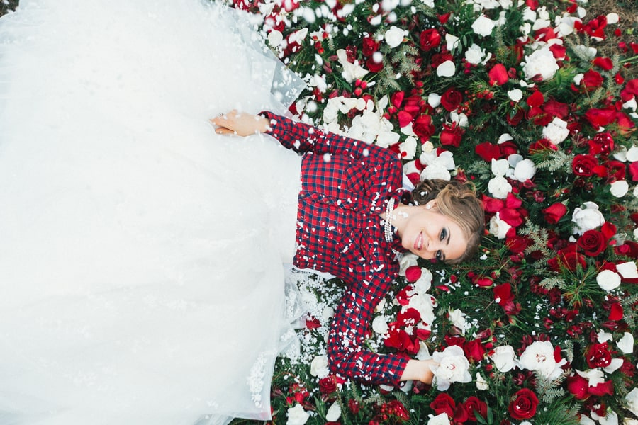 Festive Wedding Inspiration on a Christmas Tree Farm 28