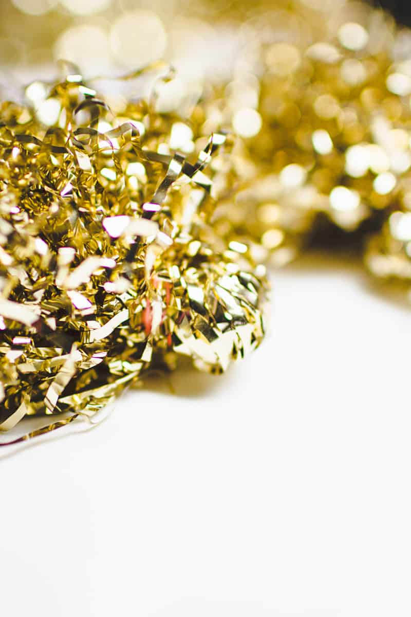New Years Eve Chin Chin Banner Gold Black Glitzy Garland DIY-2