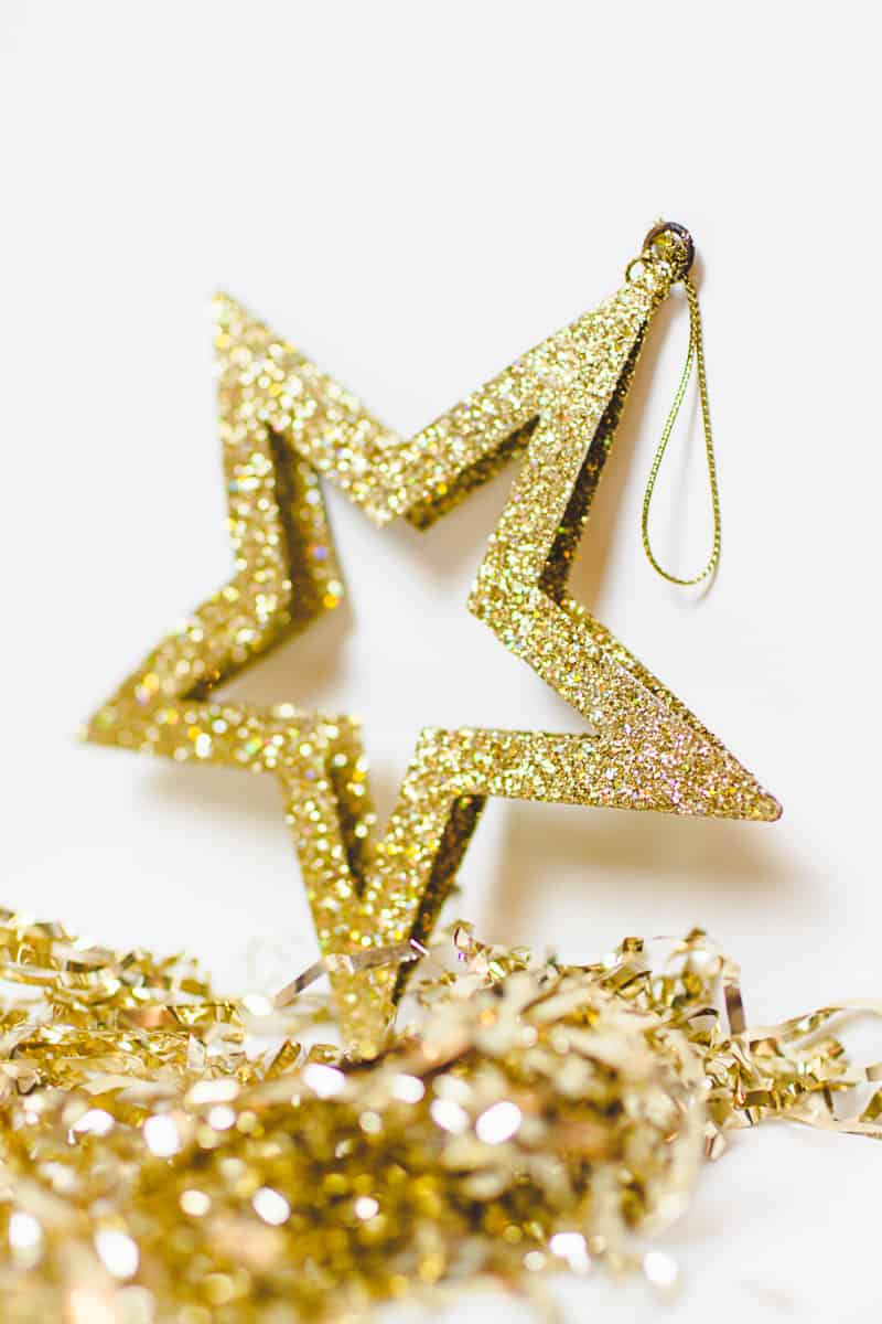 New Years Eve Chin Chin Banner Gold Black Glitzy Garland DIY-3
