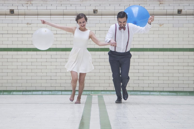 Quirky, Laid back styled wedding shoot at Victoria Baths Manchester (7)