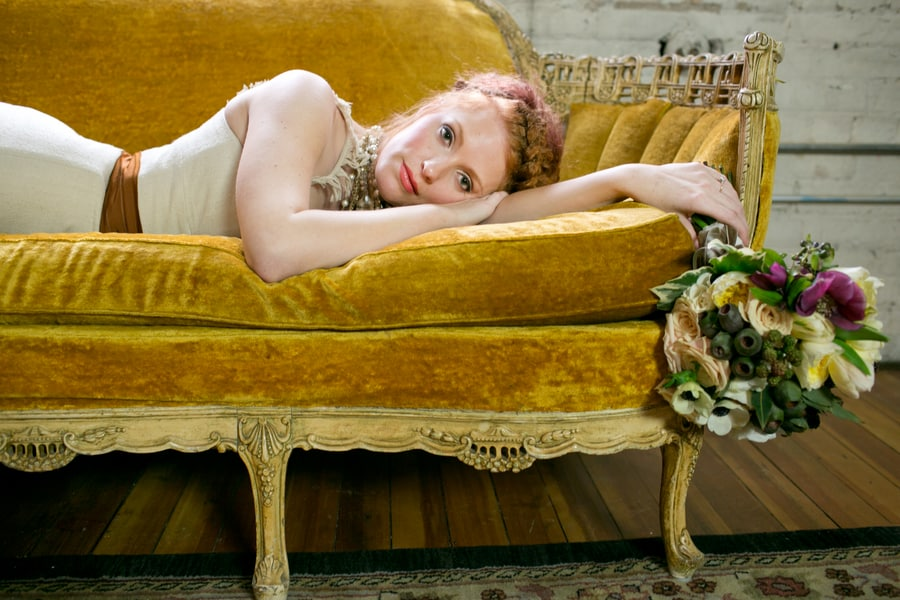 Steampunk Wedding Inspiration metals bride shoot 10