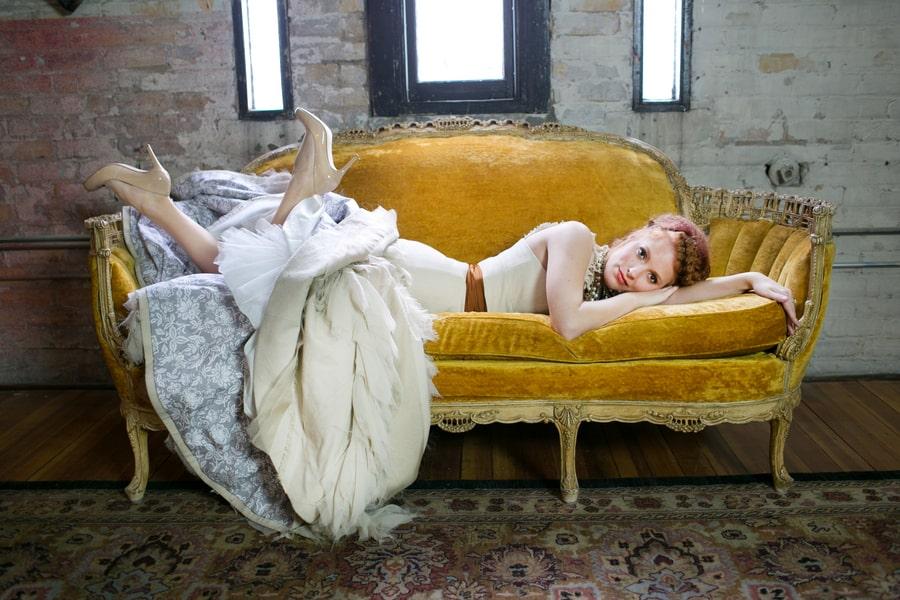 Steampunk Wedding Inspiration metals bride shoot 11