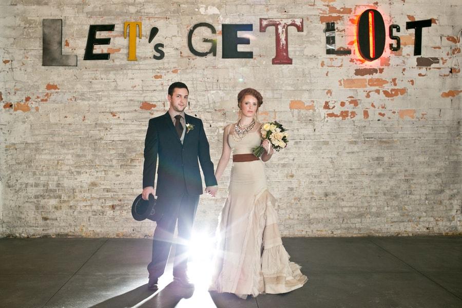 Steampunk Wedding Inspiration metals bride shoot 2