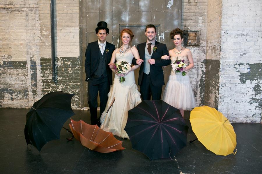 Steampunk Wedding Inspiration metals bride shoot 23