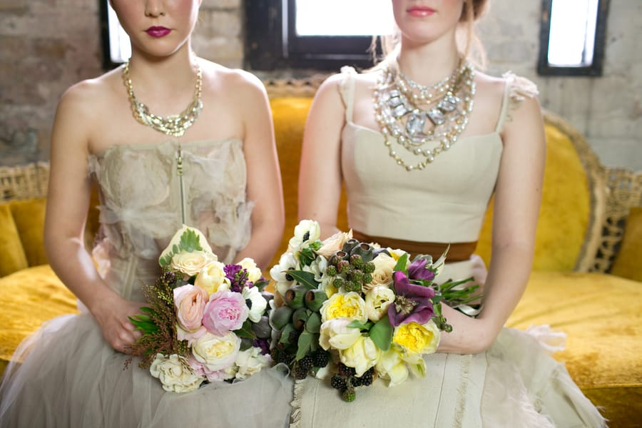 Steampunk Wedding Inspiration metals bride shoot 9