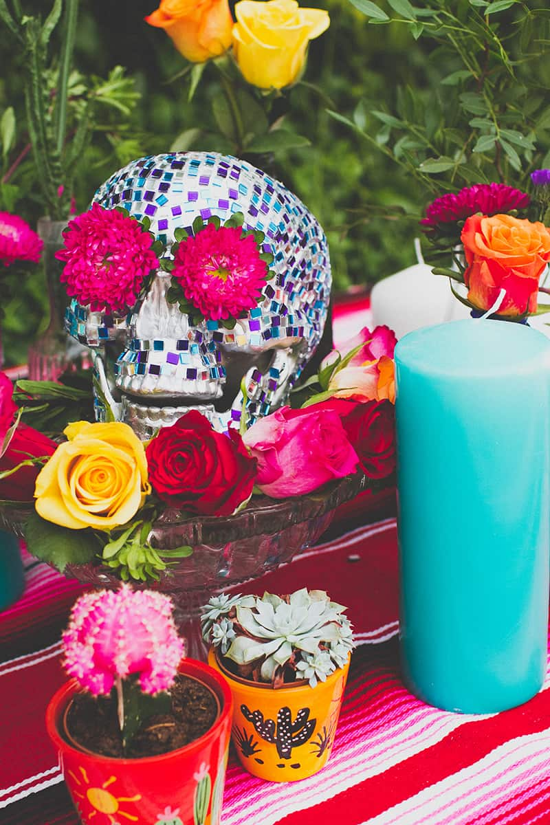 DIY Mosaic Skull for Rock n Roll Bride Magazine