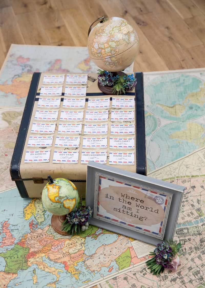 Diy Travel Seating Plan By Hip Hip Hooray 3 Bespoke Bride Wedding