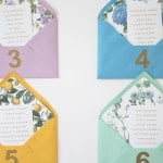 PRETTY ENVELOPE TABLE PLAN WITH FREE PRINTABLE FLORAL LINERS!