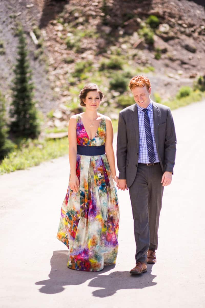 A COLOURFUL FLORAL GOWN FOR A WEDDING IN THE ROCKIES (6)