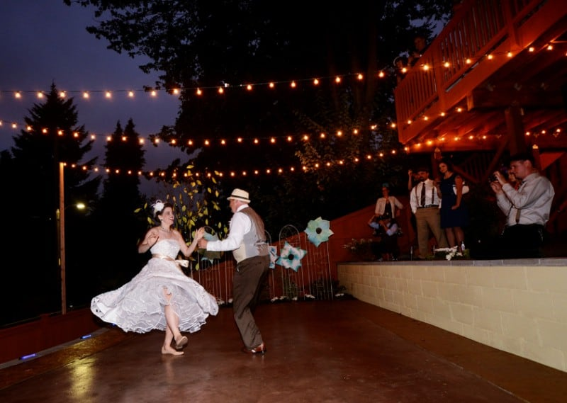 A Colourful Fun Vintage Italian Backyard Carnival Wedding (1)