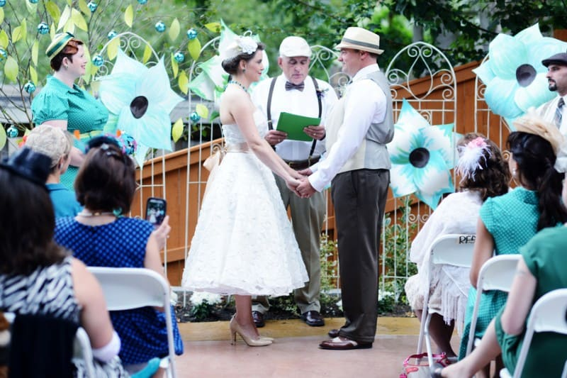 A Colourful Fun Vintage Italian Backyard Carnival Wedding (10)