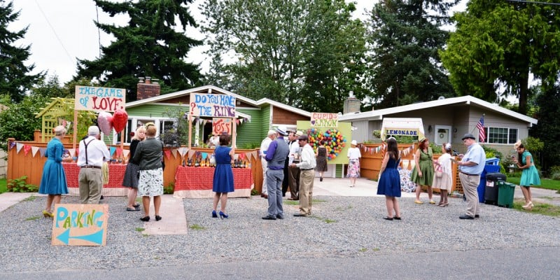 A Colourful Fun Vintage Italian Backyard Carnival Wedding (11)