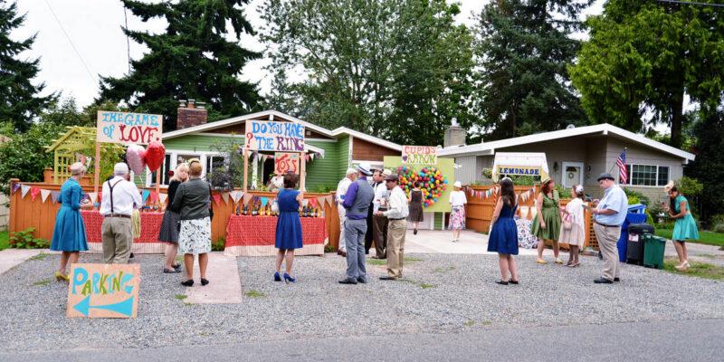 A Colourful Fun Vintage Italian Backyard Carnival Wedding (11)