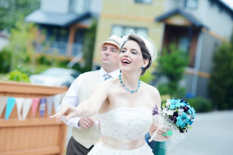 A Colourful Fun Vintage Italian Backyard Carnival Wedding (12)