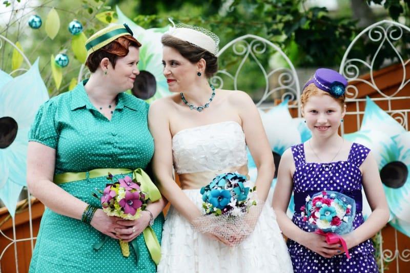 A Colourful Fun Vintage Italian Backyard Carnival Wedding (2)