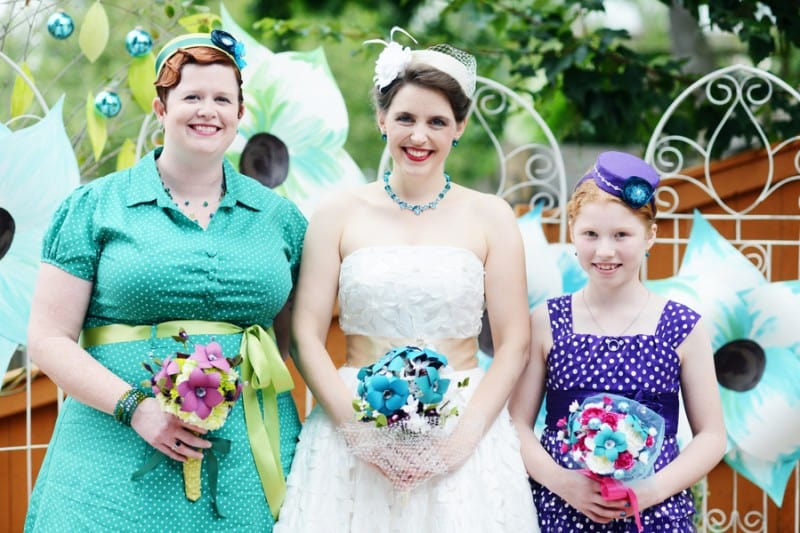 A Colourful Fun Vintage Italian Backyard Carnival Wedding (25)