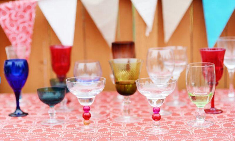 A Colourful Fun Vintage Italian Backyard Carnival Wedding (35)