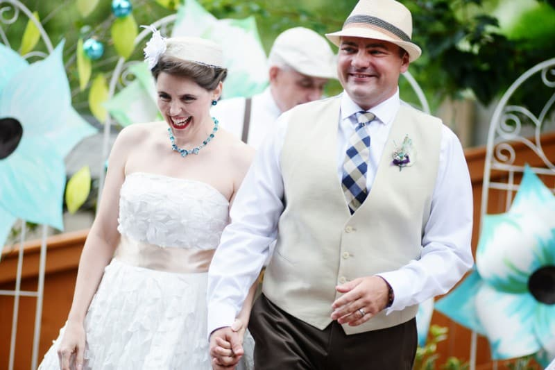 A Colourful Fun Vintage Italian Backyard Carnival Wedding (5)