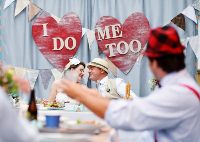 A Colourful Fun Vintage Italian Backyard Carnival Wedding (7)