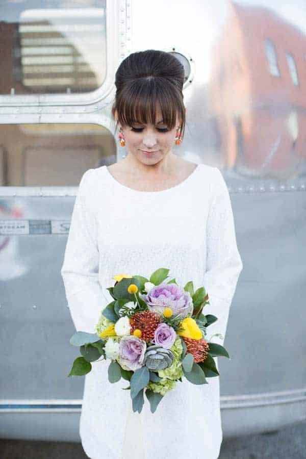 A Modern Geometric Twist On 60 S Style Bespoke Bride Wedding Blog