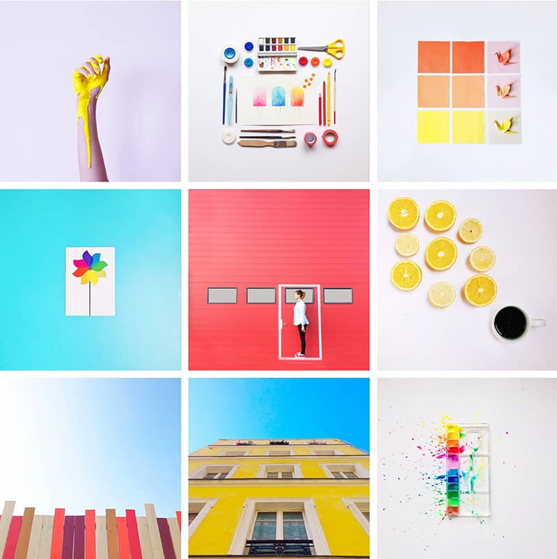 AURELYCERISE Colourful Instagram Account