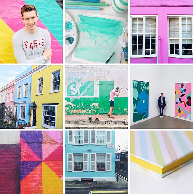 Bright bazaar Colourful Instagram Account