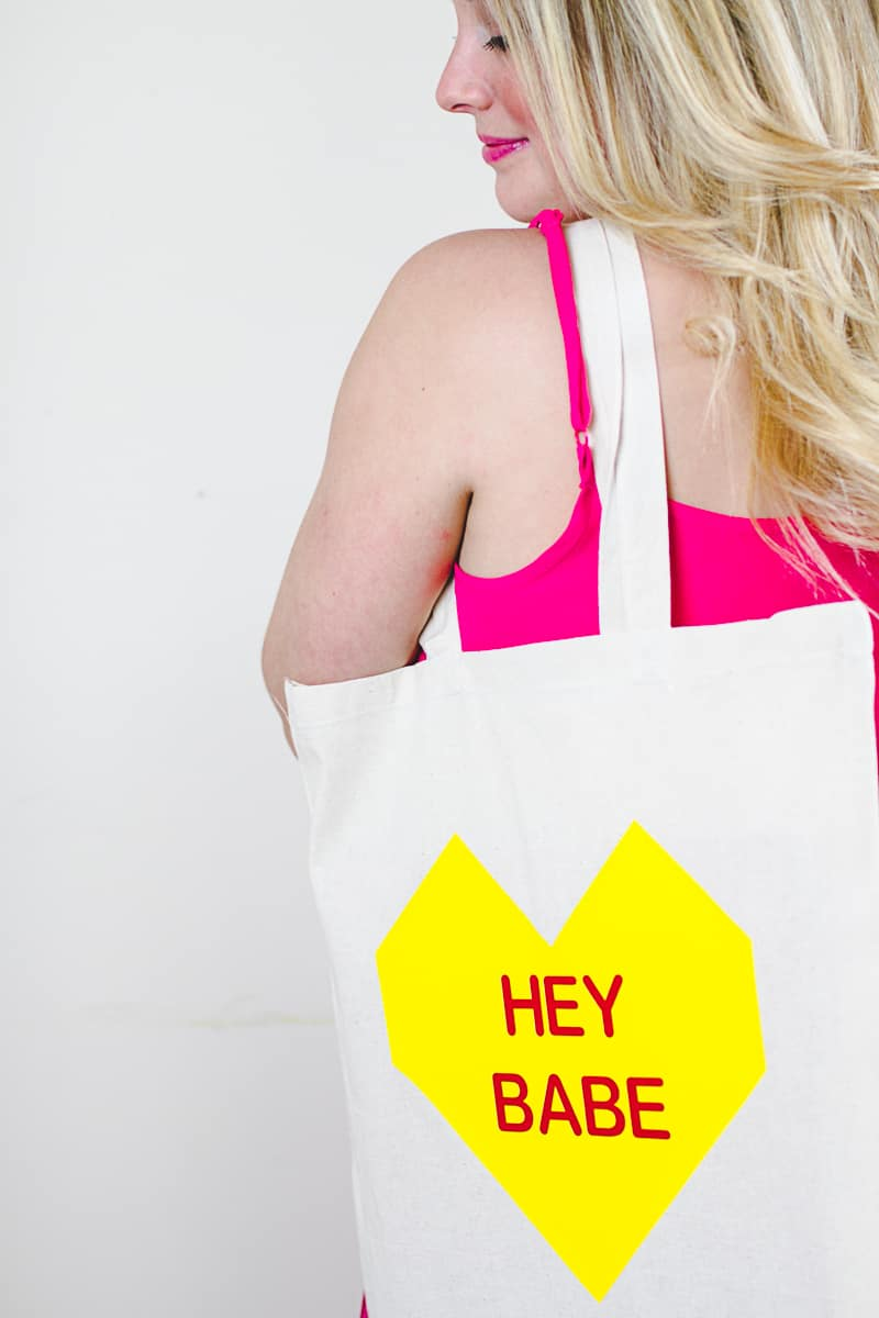 Conversation Heart Tote Bags DIY Valentines Gift Bridesmaid Presents Tutorial-3