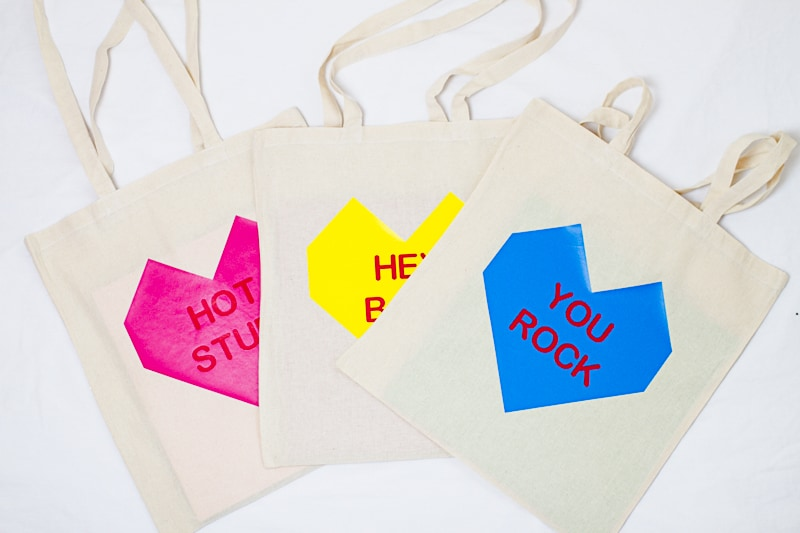 Conversation Heart Tote Bags DIY Valentines Gift Bridesmaid Presents Tutorial-6