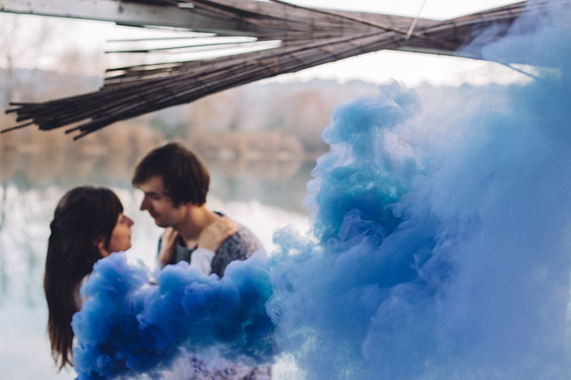 Smoke Bomb Themed Engagement Shoot 10