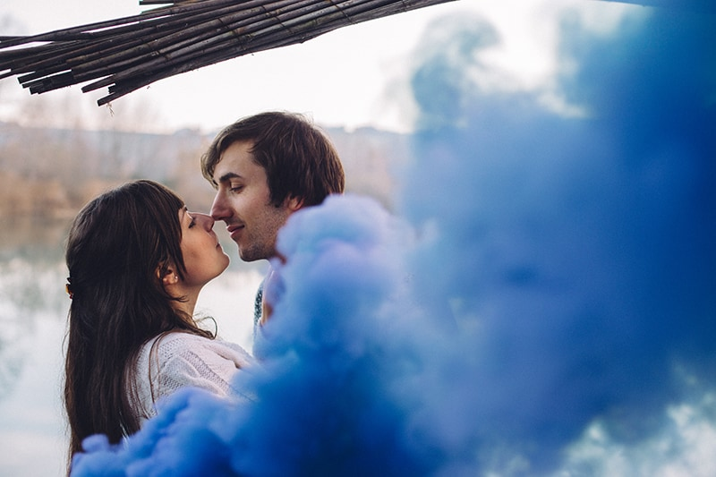 Smoke Bomb Themed Engagement Shoot 11