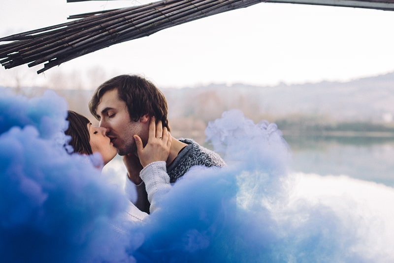 Smoke Bomb Themed Engagement Shoot 12