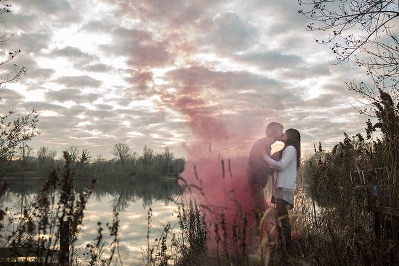 Smoke Bomb Themed Engagement Shoot 14