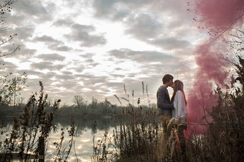 Smoke Bomb Themed Engagement Shoot 15