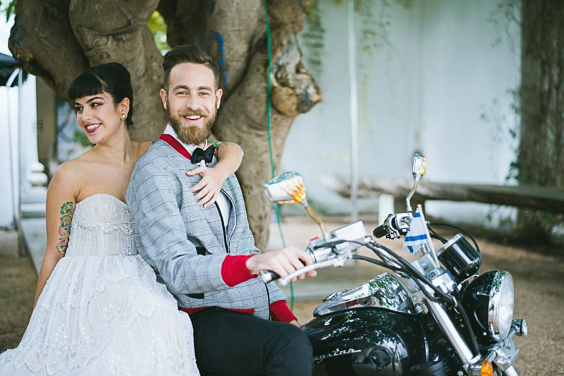 Winter Wedding Inspiration Style with Rockabilly Fashion from Zebra Music and Gold Antler Crowns Shoot-21