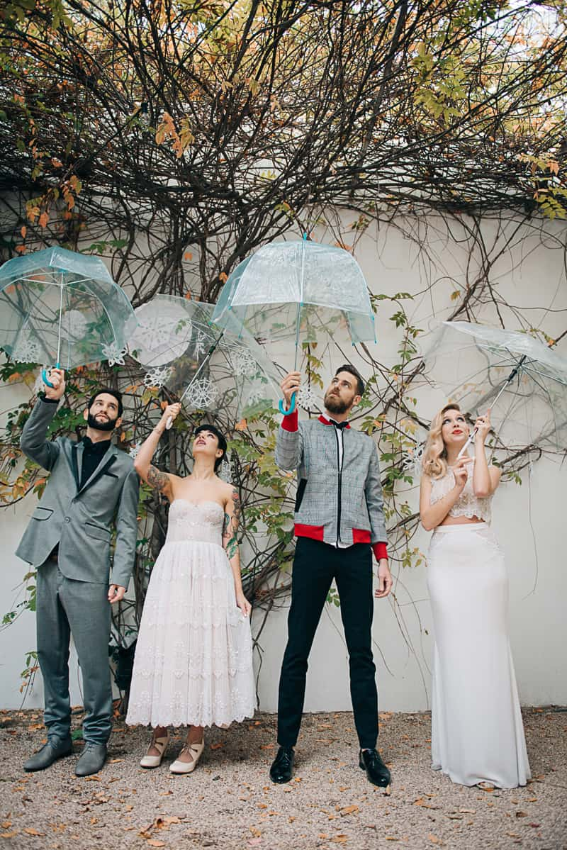 Winter Wedding Inspiration Style with Rockabilly Fashion from Zebra Music and Gold Antler Crowns Shoot-31