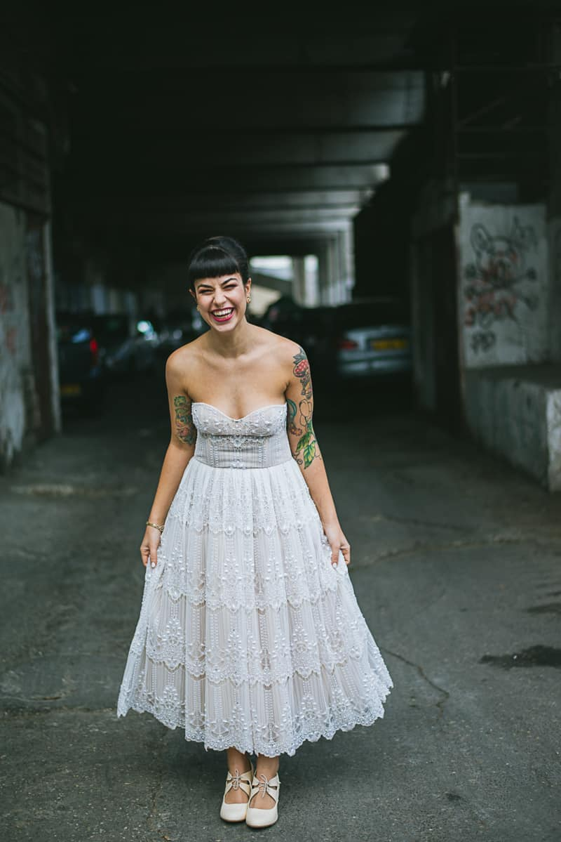 Winter Wedding Inspiration Style with Rockabilly Fashion from Zebra Music and Gold Antler Crowns Shoot-36