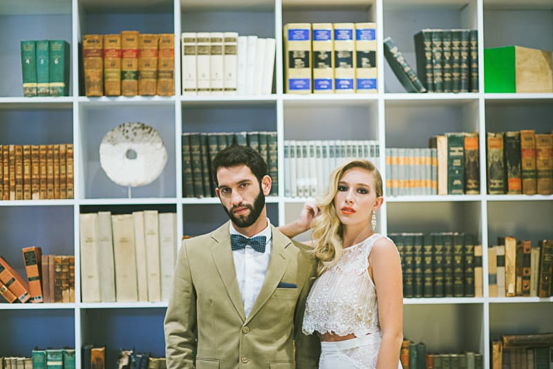 Winter Wedding Inspiration Style with Rockabilly Fashion from Zebra Music and Gold Antler Crowns Shoot-49